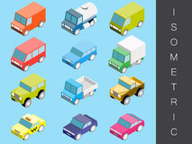 Isometric transport icon set. Stock Photography