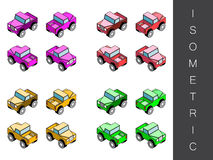 Isometric transport icon set. Stock Images