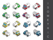 Isometric transport icon set. Royalty Free Stock Photos