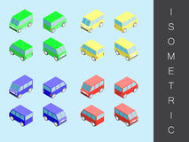 Isometric transport icon set. Royalty Free Stock Image