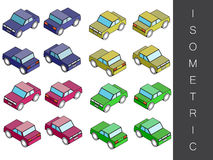 Isometric transport icon set. Royalty Free Stock Photography