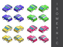Isometric transport icon set. Stock Photos