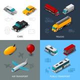 Isometric Transport Set Royalty Free Stock Images