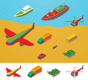 Isometric Transportation collection Royalty Free Stock Images