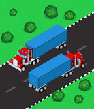 Isometric truck Royalty Free Stock Photo