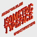 Isometric typeface Stała chrzcielnica Odosobniony anglików 3d abecadło ilustracji