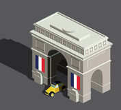 Isometric łuk De Triomphe Obrazy Royalty Free