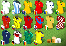 Isometric Uniforms Set of Soccer Competition Stock Photography
