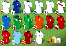 Isometric Uniforms Set of Soccer Competition Stock Photo