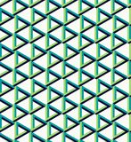 Isometric unreal triangle pattern background Stock Photos