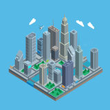 Isometric urban city map. In vector Stock Images