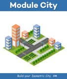 Urban Isometric skyscraper Stock Photo