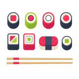 Isometric ushi set Royalty Free Stock Image
