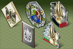 Isometric Various Medals Stock Photos