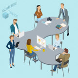 Isometric vector coworking. Stock Images