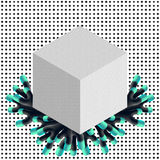Isometric vector cube Stock Images