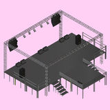 Isometric vector event stage truss Royalty Free Stock Photography