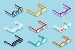 Isometric vector glasses Stock Image