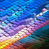 Isometric Vector Graph. Isometric Graphic Pattern. Abstract Vector 3D Geometric Colorful Background Royalty Free Stock Photography