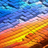 Isometric Vector Graph. Isometric Graphic Pattern. Abstract Vector 3D Geometric Colorful Background Stock Image
