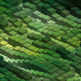 Isometric Vector Graph Pattern. Isometric Graphic Pattern. Abstract Vector 3D Geometric Green Background Royalty Free Stock Photography