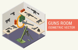 Isometric vector guns room Stock Images
