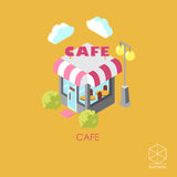 Isometric vector icon cafe  on a white background Stock Photo