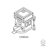 Isometric vector icon Cinema  on a white background Royalty Free Stock Photos