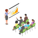 Isometric vector illustration of business presentation. Stock Photo