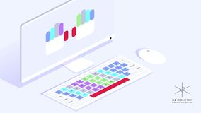 Isometric Vector Illustration  Educational Material That Shows How