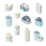 Isometric vector illustration office icon set. Royalty Free Stock Photos