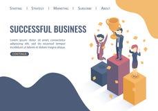 Isometric vector illustration.  Successful business. vector illustration