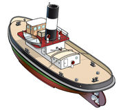 Isometric vector illustration of a tugboat Royalty Free Stock Photography