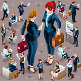 Isometric Vector Isolated Business People Icon Set Illustration Royalty Free Stock Image