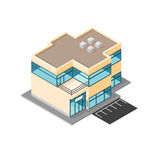 Isometric vector modern office Flat Icon Design. A contemporary working office commercial building. Using flat icon design. EPS - File included royalty free illustration