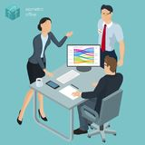 Isometric  vector  office. Royalty Free Stock Image