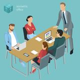 Isometric  vector  office. Royalty Free Stock Photo