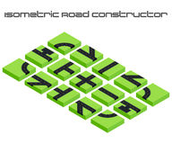 Isometric vector roads constructor Royalty Free Stock Photography