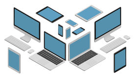 Isometric vector set of gadget Royalty Free Stock Photography