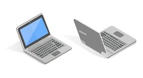 Isometric vector set of laptop. Royalty Free Stock Photo