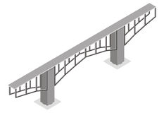 Isometric view of the bridge, Royalty Free Stock Photo