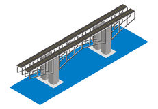 Isometric view of the bridge Royalty Free Stock Photo