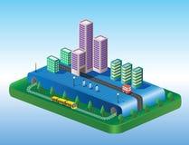 Isometric view of the city Stock Photo