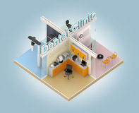 Isometric view of dental clinic model with CAD/CAM devices Royalty Free Stock Image