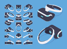 Isometric virtual reality headset Royalty Free Stock Image