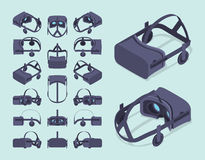 Isometric virtual reality headset Stock Images