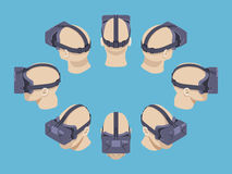 Isometric virtual reality headset Stock Photography