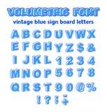 Isometric or Volumetric Vintage Alphabet Font Vector Illustration. stock photo