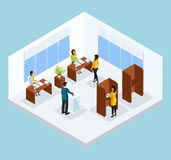 Isometric Voting Process Concept Royalty Free Stock Photography
