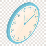 Isometric Wall clock. Clockwise. The Bright Dial. Royalty Free Stock Image